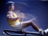 Man on Rowing Machine Photographic Print by Daniel Fort