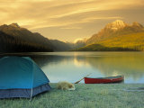 Camping, Bowman Lake, Glacier National Park, MT Photographic Print by Amy And Chuck Wiley/wales