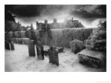 St Peter's Churchyard and Doddington Hall, Doddington, Lincolnshire, England Giclee Print by Simon Marsden