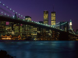 Brooklyn Bridge and Lower Manhattan, NY Photographic Print by Rudi Von Briel