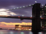 Brooklyn Bridge and South Street Seaport, NYC Photographic Print by Rudi Von Briel