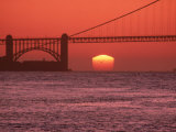 Golden Gate Bridge at Sunset Photographic Print by Mark Gibson
