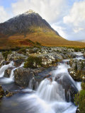 Buchaille Etive Mountain in Dawn Light, Glencoe, UK Photographic Print by David Clapp