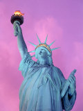 Statue of Liberty with Purple Sky, NYC Photographie par Rudi Von Briel