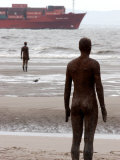 Another Place by Antony Gormley, Body Cast of Artist, Liverpool, UK Photographic Print by O'toole Peter