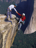 Rock Climbers, Summit of Taft Point, Yosemite Photographic Print by Greg Epperson