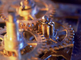 Gold Watch Gears Photographic Print by Ellen Kamp