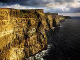 The Cliffs of Moher in Evening Light, Ireland Photographic Print by David Clapp