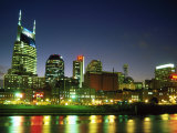 Skyline with Reflection in Cumberland River Photographic Print by Barry Winiker