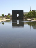 Okc Memorial, Reflecting Pool and Structure Photographic Print by Ray Hendley
