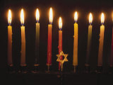 Chanukah Candles and Star of David Photographic Print by Eunice Harris