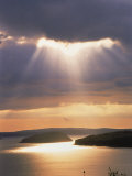 Sunrise Over Bar Harbor, Cadillac Mountain, ME Photographic Print by Elizabeth DeLaney