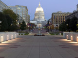 Wisconsin State Capitol Building, Madison, WI Photographic Print by Walter Bibikow