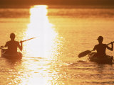 Silhouetted Sea Kayakers Photographic Print by Amy And Chuck Wiley/wales