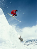 Airborne Alpine Skier, Crested Butte, CO Fotografiskt tryck av Paul Gallaher