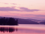 Sunset, Adirondack Lake, NY Photographic Print by Rudi Von Briel