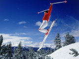 Alpine Skier Airborne, Breckenridge, CO Photographic Print by Bob Winsett