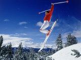 Alpine Skier Airborne, Breckenridge, CO Photographic Print by Bob Winsett