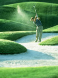 Golfing Photographic Print