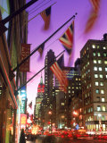 NYC, Fifth Avenue Flags Fotodruck von Rudi Von Briel