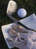 Golf Ball, Club, Golf Glove, and Score Card Photographie par Ellen Kamp
