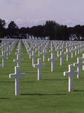 World War II Cemetery, Normandy, France Photographic Print by Bill Bachmann