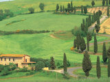 Curvy Tuscan Road, Tuscany, Italy Photographic Print by Walter Bibikow
