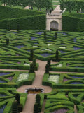 Jardins Et Chateau Villandry, France Photographic Print by Walter Bibikow