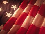 Amerikanische Flagge Fotografie-Druck von Ellen Kamp
