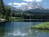 Lassen Peak (10,457') and Manzanita Lake, CA Photographic Print by Allen Russell