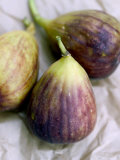 Figs on Brown Paper Background Photographic Print by Mark Bolton