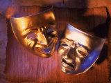 Two Theatre Masks (Comedy and Tragedy) Fotografisk trykk av Ellen Kamp