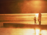 Father and Son Fishing Photographic Print by Bob Winsett