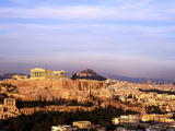 Athens, Greece, View of the City with Acropolis Photographic Print by Bill Bachmann