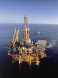 Off-Shore Oil Rig Photographic Print by Ken Glaser