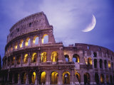 The Colosseum at Night, Rome, Italy Stampa fotografica di Terry Why
