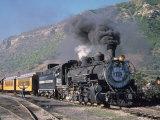 Steam Locomotive, Durango, Colorado Fotografisk tryk af Charles Benes