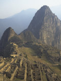 View of Ruins, Machu Picchu, Peru Photographic Print