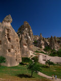 Cone Tufa Buildings, Uchisar, Cappadocia, Turkey Photographic Print by Walter Bibikow