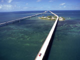 Aerial of 7 Mile Bridge, Pigeon Cay, Florida Keys Photographic Print by Timothy O'Keefe