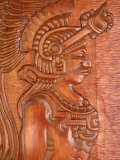 Mayan Wood Carving, Gales Point, Belize Photographic Print by Robert Houser