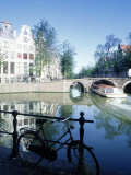 Water with Reflections, Amsterdam Photographic Print by Peter Adams
