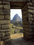 Incan Doorway, Machu Picchu, Peru Photographic Print