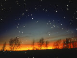 Silhouetted Landscape Below Star-Filled Sky Photographic Print by Chris Rogers