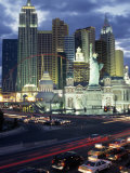 Ny Ny Hotel Casino and Roller Coaster, Las Vegas Photographic Print by Jeff Greenberg