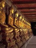 Golden Buddhas, Bangkok, Thailand Photographic Print