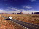 Camper on Highway No.163, Monument Valley, AZ Photographic Print by E. J. West