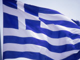 Flag of Greece Photographic Print by Barry Winiker