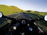 Motorcycle on Road, Marin County, CA Reproduction photographique par Robert Houser