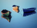 Moored Rowboats, Olhao, Portugal Photographic Print by Mitch Diamond